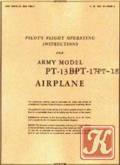 Pilot&039;s flight operating instructions for army model PT-17 Airplane